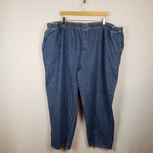 Cabin Creek Pull On Jeans Womens Sz 32W Blue